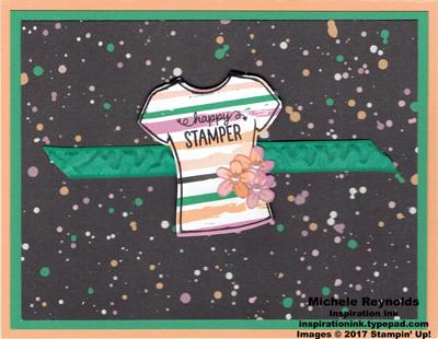 Custom tee happy stamper shirt watermark