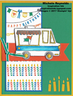 Tasty trucks pennants banners and candles watermark