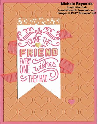 Friendly wishes heart friend watermark