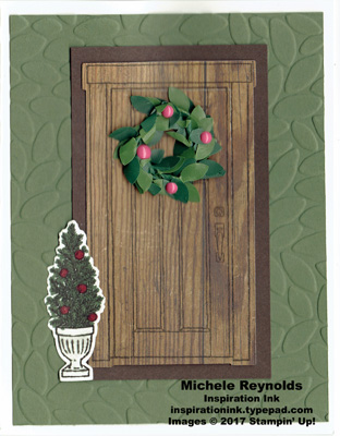 At home with you christmas wreath door watermark