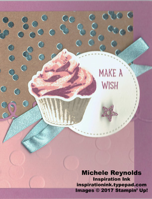 Sweet cupcake make a wish dots watermark