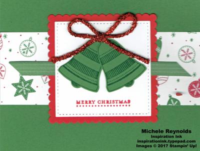 Seasonal bells green christmas bells watermark
