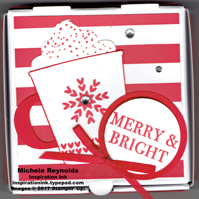 Smitten mittens coffee cup pizza box watermark