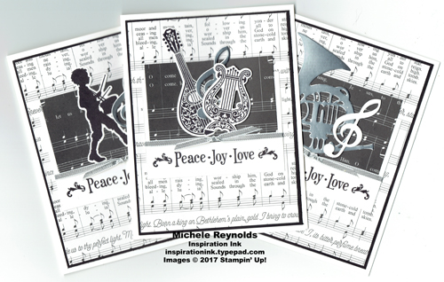 Musical season black and white cards watermark