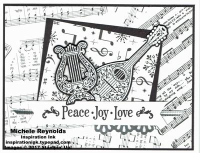 Musical season scattered music watermark