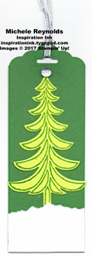 Santa's sleigh lime tree tag watermark