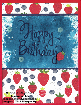 Stylized birthday brusho mixed berries watermark