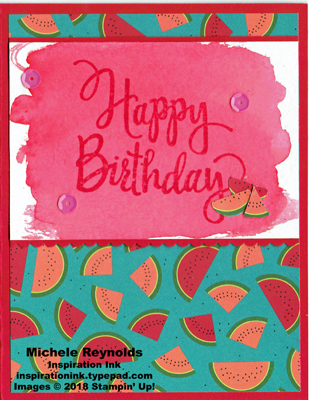 Stylized birthday brusho watermelon watermark