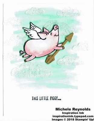 This little piggy cupid pig watermark
