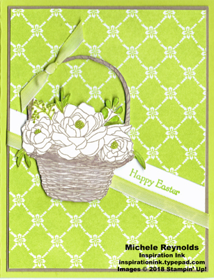 Blossoming basket springy easter basket watermark