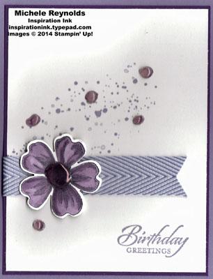 Flower shop grunge glue dots watermark