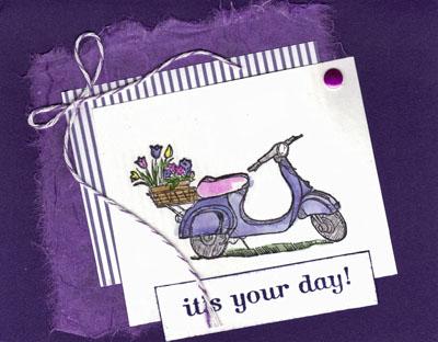 Birthday card from carolyn castaldi