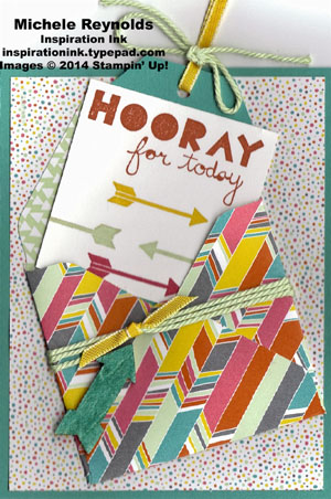 Geometrical confetti celebration envelope and tag watermark