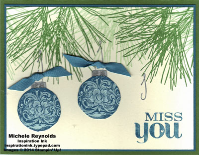Ornamental pine miss you ornaments watermark