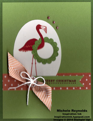 Flamingo lingo christmas wreath flamingo watermark