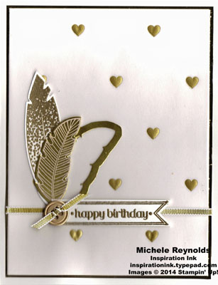 Four feathers golden feathers birthday watermark