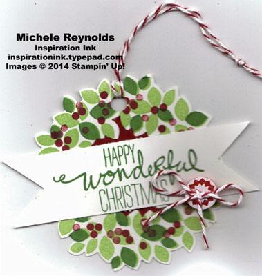 Wondrous wreath tag watermark