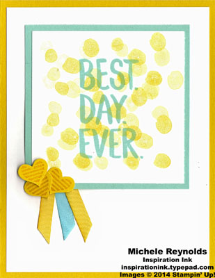 Best day ever heart ribbons watermark