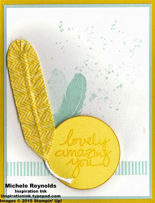 Lovely amazing you washi tape feather watermark