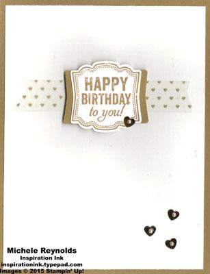 Label love brown sugar hearts birthday watermark