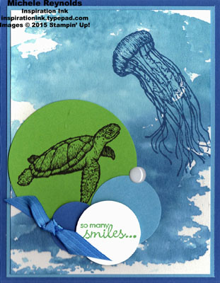 From land to sea smiles turtle watermark