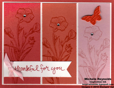 Butterfly basics flower triptych watermark