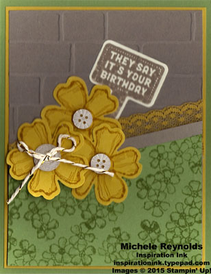Stake your claim staked flower wall watermark