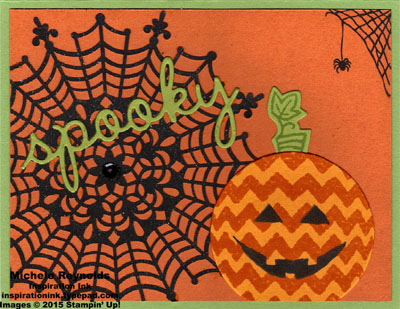 Sparkly seasons spooky webs and pumpkin watermark