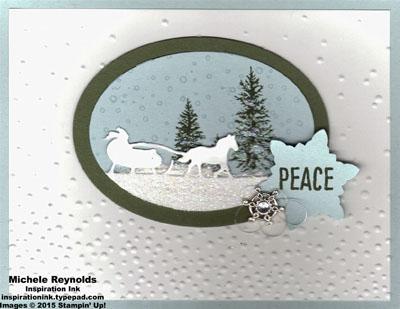 Happy scenes peaceful snowy sleigh ride watermark
