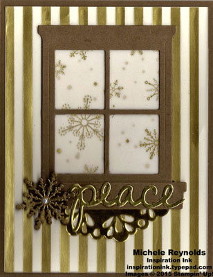 Hearth & home gold snowflakes peace watermark