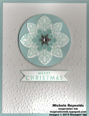 Flurry of wishes snowflake circle watermark