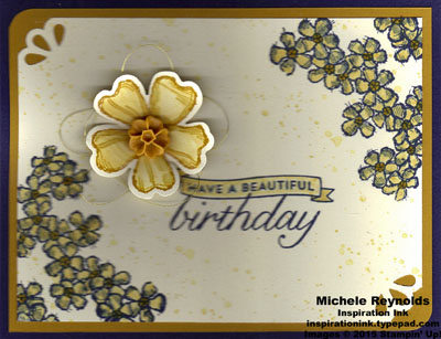 Birthday blossoms watercolored blossoms watermark