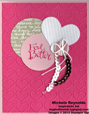 Sassy salutations feel better hearts watermark