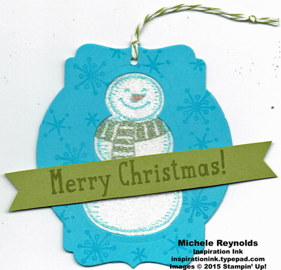 Snow place sparkly snowman tag watermark