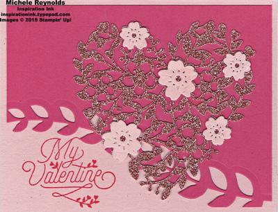 Bloomin love glimmer heart valentine watermark