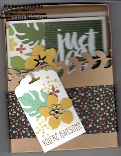 Botanical blooms card box watermark