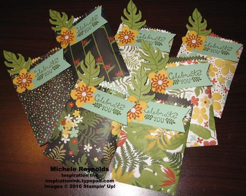 Botanical blooms treat bags