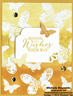 Butterfly basics emboss resist wishes watermark