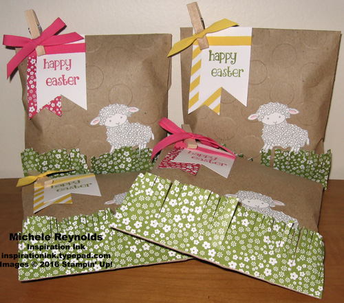 Easter lamb treat bags