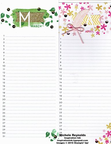 Perpetual birthday calendar march april watermark