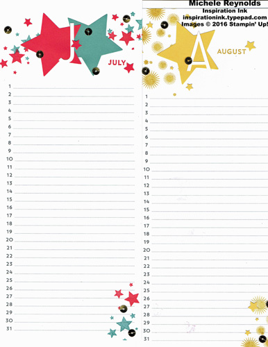 Perpetual birthday calendar july august watermark