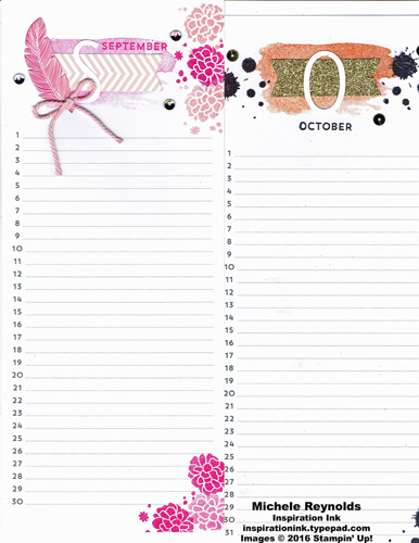 Perpetual birthday calendar september october watermark