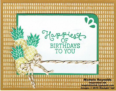 Pop of paradise bohemian pineapple birthday watermark