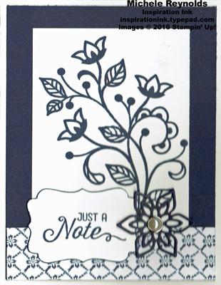 Flourishing phrases pearl flower note watermark