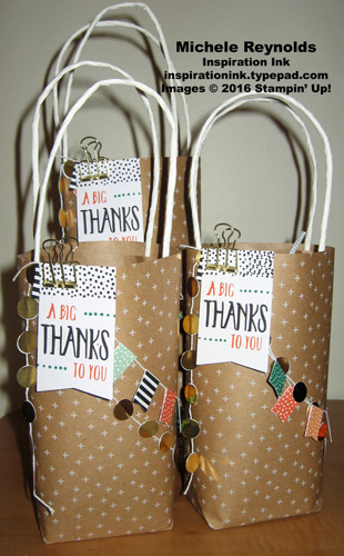 Perfectly wrapped retirement list goody bags