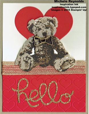 Baby bear bow tie hello watermark