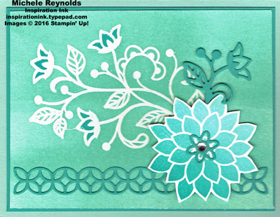 Flourishing phrases ombre flower watermark