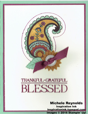 Paisleys & posies blessed colorful paisley watermark