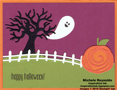 Spooky fun swirly pumpkin watermark