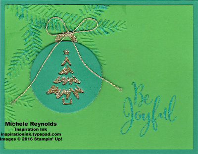 Merriest wishes sparkle ornament boughs watermark